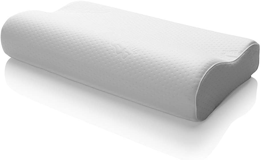 Tempur-Pedic Neck Pillow Firm Feel & Ergonomic Design, White