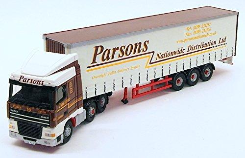 Corgi 1/50 Scale Model Truck CC13221 - DAF XF Space Cab Curtainside - Parsons B004JA39YG