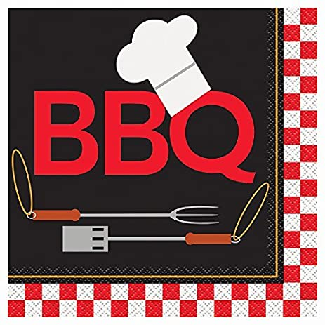 65 Backyard BBQ Paper Napkins Pack Of 16 By Unique Party