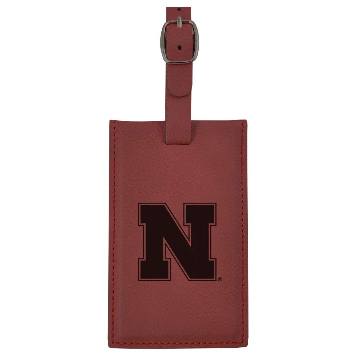 大学のnebraska-leatherette Luggage tag-burgundy B013VZ07YY