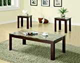 3pc Coffee Table Set 3-piece Occasional Table Set Brown