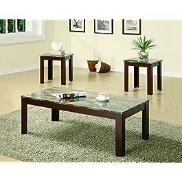 Coaster Furniture 3 Piece Casual Coffee Table Set