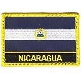 Flaggen Aufnäher Patch Nicaragua Schrift Fahne NEU