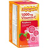 Emergen-C Dietary Supplement Drink Mix with 1000 mg Vitamin C, 0.32 Ounce Packets, Caffeine Free (Raspberry Flavor, 30 Count)