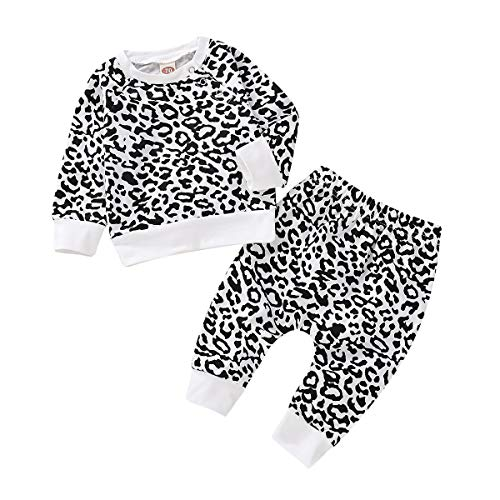 Baby Clothes Boy Leopard Print Winter Clothes Baby Boy Outfits 2 Pcs Long Sleeve Fall Pants Set 3-6 Months