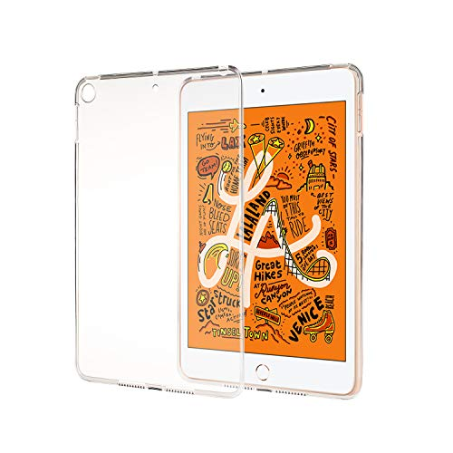 LEDNICEKER Clear Case for iPad Mini 5th Generation 2019 - Crystal Clear Soft TPU Thin Anti-Scratches Cover Compatible for iPad Mini 5 2019 Tablet Latest Model (Transparent) - Clear