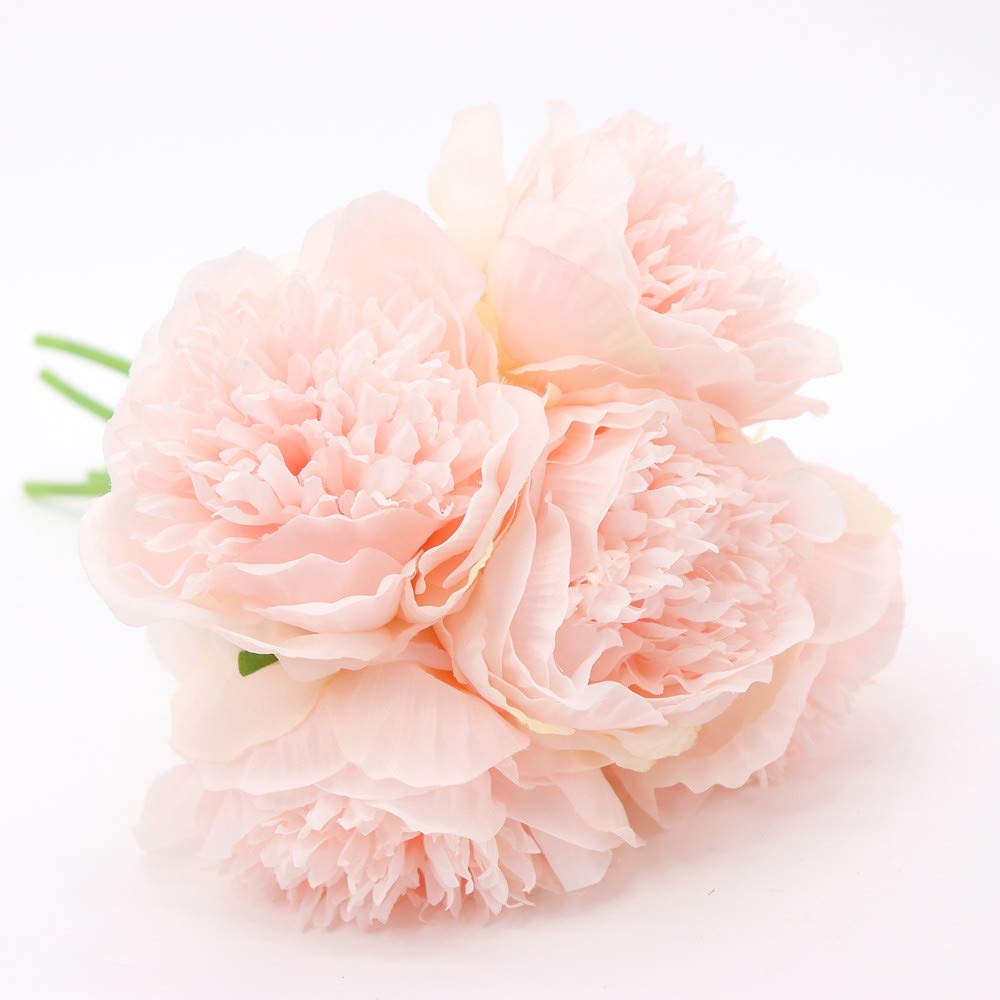 5 Heads Large Peony Artificial Silk Flowers Wedding Bouquet Party Home Decor