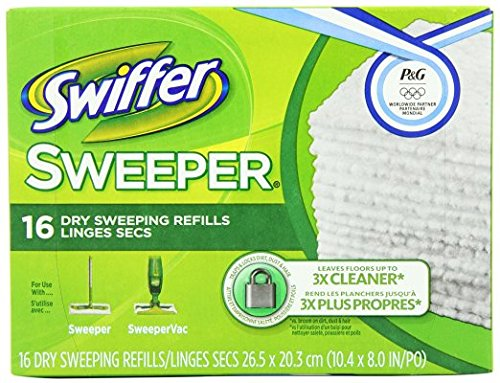 Swiffer Sweeper Dry Sweeping Cloth Refills, 16 Count (1 Box)