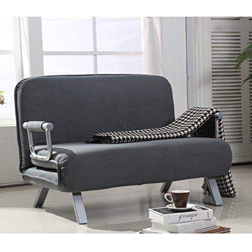 HomCom Suede Fabric Lounge Futon product image