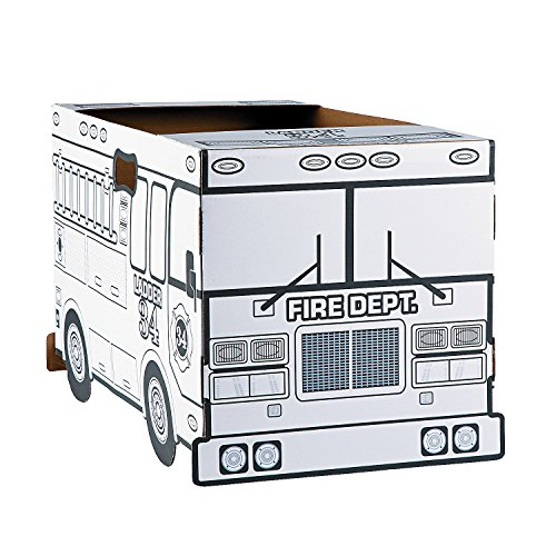 Color Your Own Fire Truck Costume (Cardboard Costumes)
