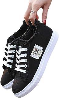 Scarpe da Ginnastica Canvas Shoes Donne Ragazze Casual Flats Lace-up Mocassini Tinta Unita Guida Scarpe Pigri Sneakers Antiscivolo Scarpe Singole Traspiranti