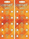 LOOPACELL AG10 LR1130 389 Alkaline Watch Batteries X 20