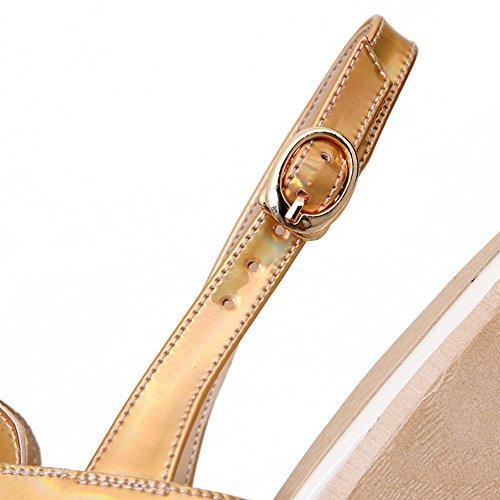 Urethane Sandals Womens 1TO9 Hollow Platforms MJS03007 Platforms Gold Out Sandals 7qf7Tw6ZU
