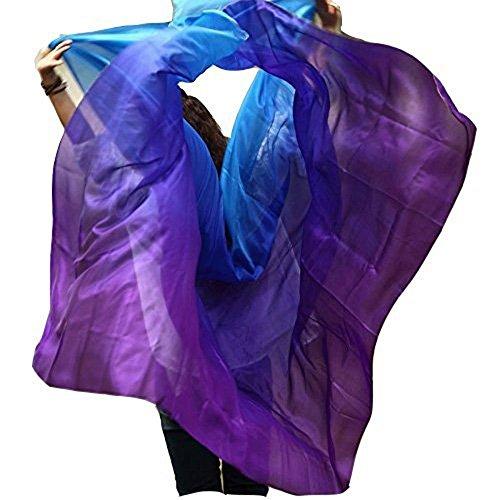 Nimiman New Arrival Women Belly Dance Silk Veils On Sale Turquoise Blue Purple