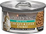Pro Plan Canned Cat Food, Kitten Classic Chicken and Liver Entrée, 3-Ounce Cans (Pack of 24), My Pet Supplies