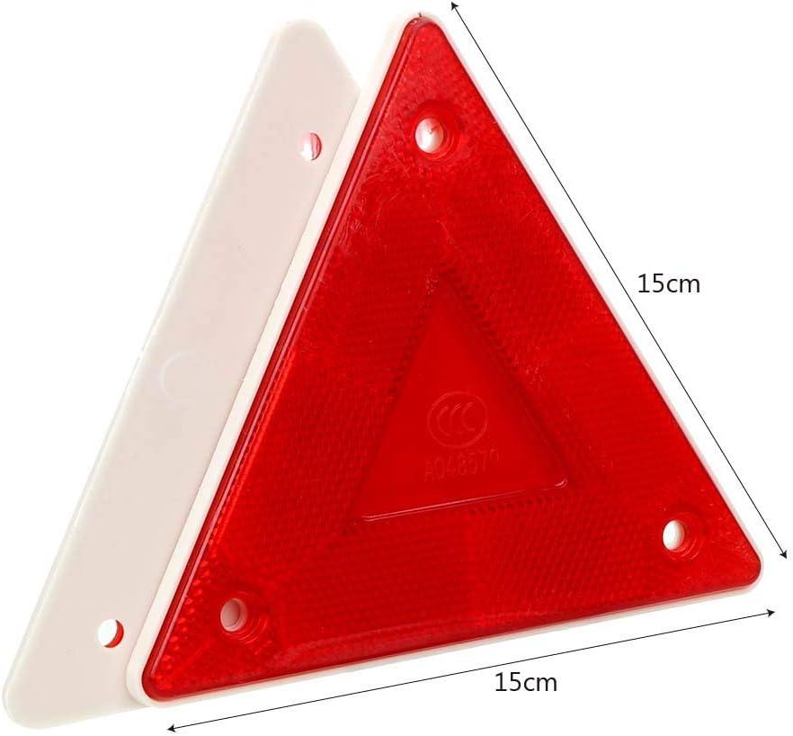 Cartel reflectante rojo de seguridad tri/ángulo reflector para camiones 2 unidades