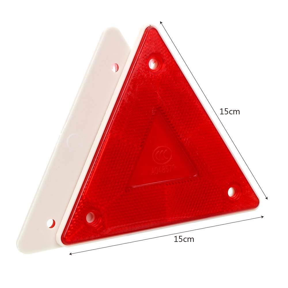 2 Piezas de cami/ón Trasero de Seguridad tri/ángulo de Advertencia Tablero de la Muestra Reflectante de pl/ástico
