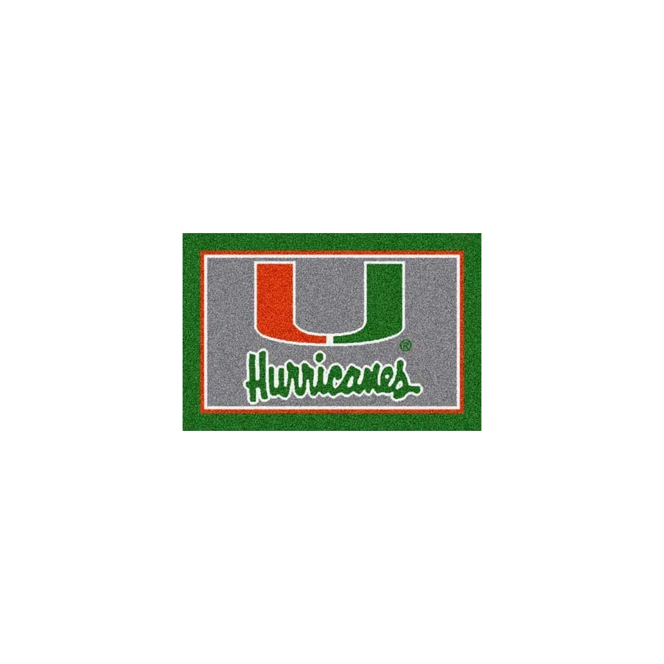 Milliken 4000019236 Miami College Team Spirit Area Rug, 54 x 78