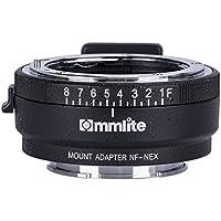 Commlite CM-NF-NEX Manual Focus Lens Mount Adapter for Nikon G,F,A,I,S,D Lens to Sony NEX E Mount Camera Sony A7 A7R NEX-3 NEX-5 NEX-7 NEX-VG10 with Aperture Dial