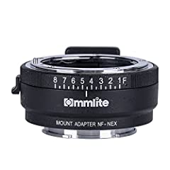 Commlite lens mount adapter CM-NF-NEX, allow you for connection from Nikon Lens(Including most Nikon lens type as: G,F,AI,S,D mount) to Sony NEX camera or Camcorders. It utilizes high-precision Aluminum alloy material, and be able to reach in...