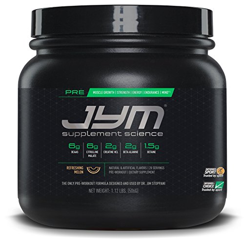 JYM Supplement Science, Pre JYM Pre Workout Powder, Refreshing Melon, 20 Servings