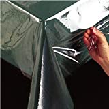 Benson Mills Clear Plastic Tablecloth, 60-Inch by 108-Inch