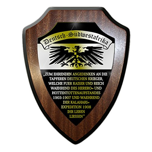 - German Southwest Africa Honorary Plates Windhoek DSW Southwest Namibia Protection Groups Colony Commemoration German Empire Germany - Escutcheon / Wall Sign