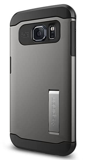save off c1ec9 9bbfa Spigen Slim Armor Galaxy S6 Edge Case with Kickstand and Air Cushion  Technology and Hybrid Drop Protection for Galaxy S6 Edge 2015 - Gunmetal