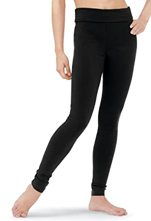 74cf8b5105fd51 Balera Dance Cotton Leggings High Waist Ankle Length Black Child Large