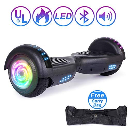SISIGAD Hoverboard Self Balancing Scooter 6.5' Two-Wheel Self Balancing Hoverboard with Bluetooth Speaker and LED Lights Electric Scooter for Adult Kids Gift UL 2272 Certified