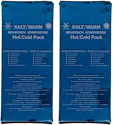 M&H-24 compresas multiusos, frío/caliente, 13 x 14 cm, compresas de frío, compresas de frío, compresas de frío, pack de enfriamiento, gel para ...