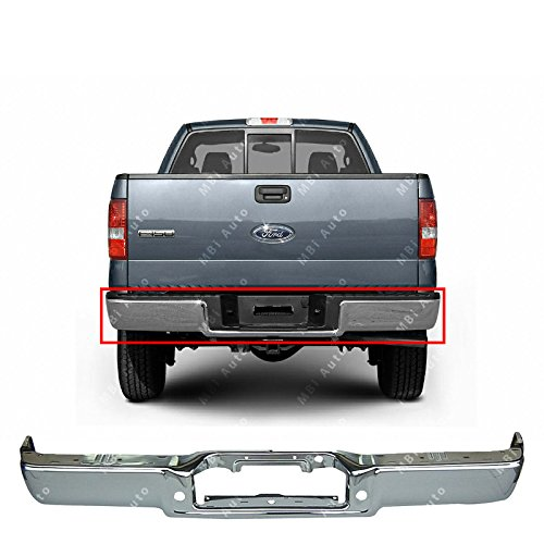 MBI AUTO - Chrome Steel, Rear Bumper Face Bar Shell for 2006 2007 2008 Ford F150 & Lincoln Mark LT Pickup 06-08, FO1102358