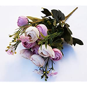 SHANS Silk Flower Artificial Home Wedding Decor Bridal Bouquet 68