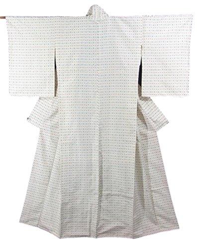 まぶしさ火山のキリンリサイクル 着物 紬 絣模様 正絹 袷 裄63.5cm 身丈162cm