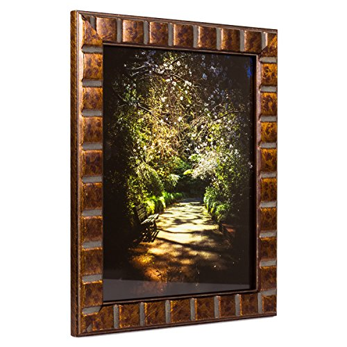 Craig Frames Mosaic, Aged Bronze Picture Frame, 12 by 18-Inch