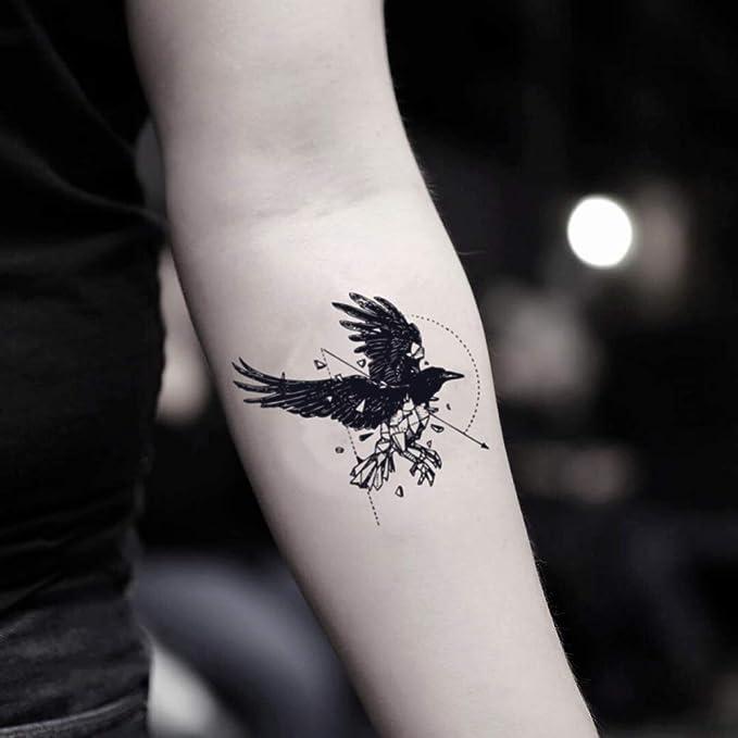 Tatuaje Temporal de Geo Cuervo (2 Piezas) - www.ohmytat.com ...