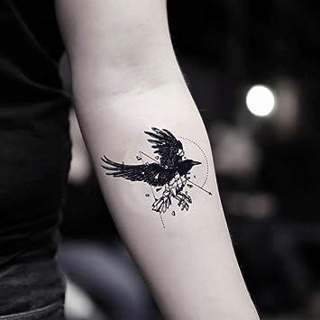 Amazoncom Geo Raven Temporary Fake Tattoo Sticker Set Of