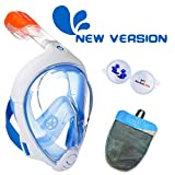 ME MARTIAN ELITE Tribord/Subea Easybreath (2019 Version) Full Face Snorkel Mask with Waterproof earplug, Enhanced Anti-Fog and Anti-Leak