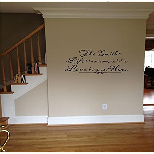 Quote It   Personalized Family Life Takes Us To Unexpected Places...Vinyl  Wall Decals Quotes