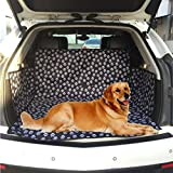 Car Seat Cover for Dog Cat Pets Waterproof Floor Mat Liner Oxford for SUV Trunk Cargo (Black, Washable Dog Accessories)