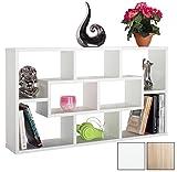 RICOO Wall Shelves Bookcase WM050-W Wood 2 3 Tier Floating Book Storage Hanging Rack Organiser Unit Racking Shelf/White