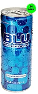 BLU Energy Drink 8.4-Ounce Cans (Pack of 24)