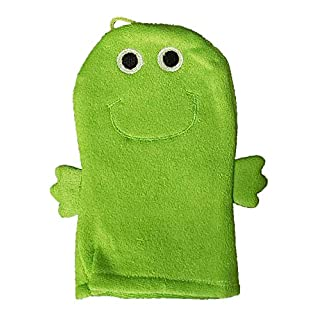 Greenbrier International Terry Cloth Bath Puppet/Wash Cloth/Bath Mitt (Green Frog)