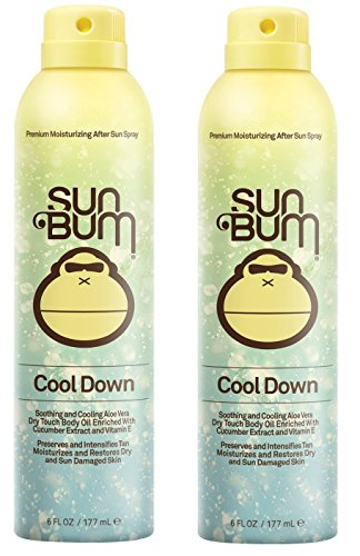 Sun Bum Cool Down Hydrating After Sun Spray CYuJUA, 6oz Bottle, Hypoallergenic, Aloe, Cocoa Butter, 2 Pack