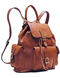 Toscana Leather Backpack in Brown Italian Calfskin Leather