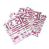 Global Cut Paper Tribal Pink India Stripes Boho Organic Sateen Dinner Napkins Tribal Vibes - Celebration by Fable Design Set of 4 Dinner Napkins