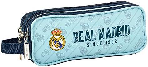 Real Madrid – Estuche escolar Triple Deluxe cielo since 1902 Real Madrid: Amazon.es: Oficina y papelería