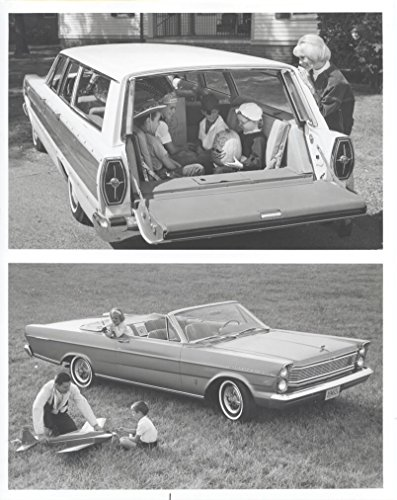 1965 Ford Woodie Station Wagon & Convertible ORIGINAL Factory Photo - 1965 Ford Station Wagon