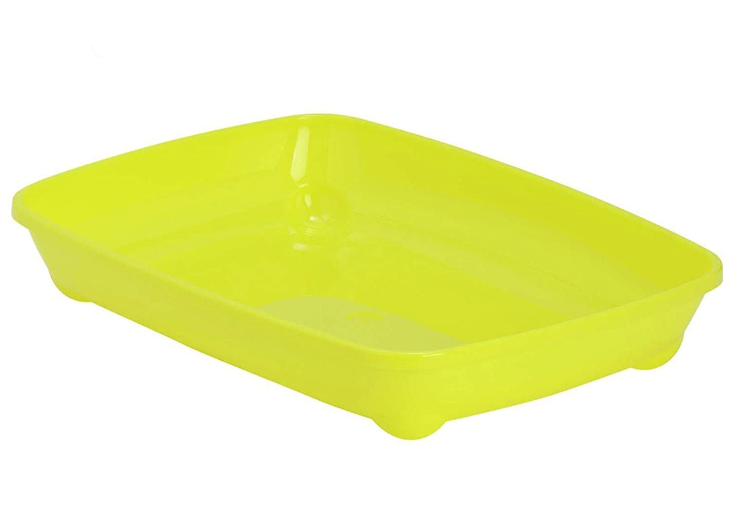 Yellow Cat Small Litter Tray With or Without Bowls and Scoop Box Pan Toilet Loo Kitten