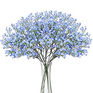 Bomarolan Artificial Baby Breath Flowers Fake Gypsophila Bouquets 12 Pcs Fake Real Touch Flowers for Wedding Decor DIY Home Party 9